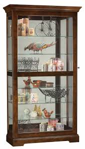 Glass Curio Cabinets With Lights Cherry Curio Cabinets By Howard Miller With Free In Home Delivery