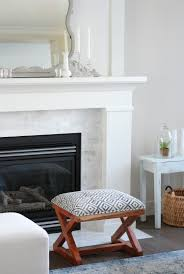 benjamin moore white dove fireplace and trim shaker style fireplace with marble subway tile surround