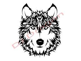 wolf face drawing tribal. Plain Wolf Wind Style Wolf Tribal By DJDragon  With Face Drawing A