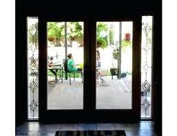 french door sidelights two one lite french with leaded glass side lights french door