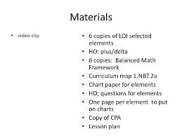 Materials Video Clip 6 Copies Of Loi Selected Elements Ho