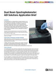 Function Of Light Source In Spectrophotometer Dual Beam Spectrophotometer Adi Solutions Application Brief
