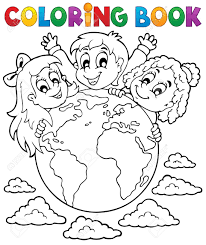 coloring book kids theme 2 eps10 vector ilration stock vector 21571119