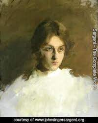 Portrait Of Edith French by Sargent   Oil Painting   johnsingersargent.org