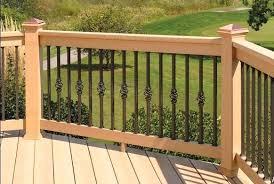 home design deck railing option iron deck railing twist cage inexpensive deck railing options