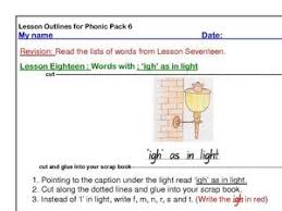 Phonics worksheets and online activities. Igh Phonics Lesson Plans Worksheets Reviewed By Teachers