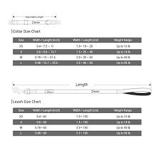 Collar Size Chart Droolingdog Basic Dog Collar And Leash Sets For Dogs