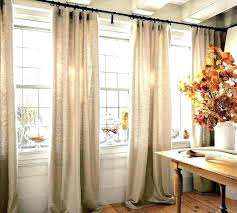 long curtain rods kitchen curtains wide windows one long curtain rod above multiple move divider behind long curtain rods