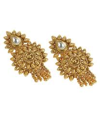 South Indian Traditional Gold Earrings Designs South Indian Earring Gold Design Earring Foto Collections