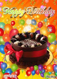 chocolate cake happy birthday gif
