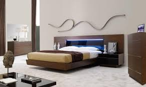 Led Bedroom Furniture Spain Made Real Wood Veneer Tobacco Bedroom Set With Led Jmbar