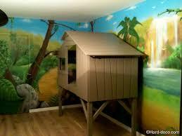 D Coration Lit Cabane Chambre D Enfant Fresque Murale