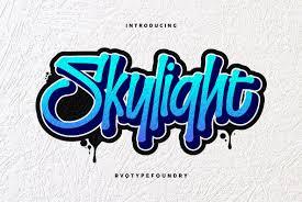 Graffiti Font Free Skylight Graffiti