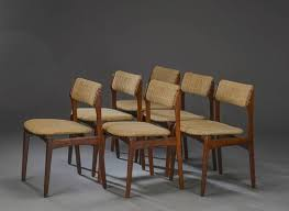 danish rosewood dining chairs by erik buch set of 6 1