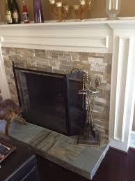 innovative ideas fireplace stone tile peaceful design surrounds