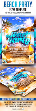 Beach Party Flyer Template | Pinterest | Party Flyer, Flyer Template ...