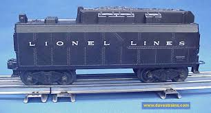 dave s trains inc postwar lionel steam engines tenders minimal flaws on the tender the original shell is completely intact and very very clean strong lettering and a nice rust frame