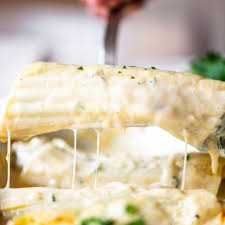 en and spinach manicotti with