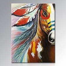 >amazon winpeak art hand painted large canvas wall art abstract  winpeak art hand painted large canvas wall art abstract horse oil painting modern contemporary decorative artwork