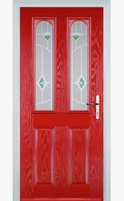 poppy red 2 panel 2 arch with murano