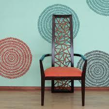 maloca wall art stencil tribal wall pattern stencils