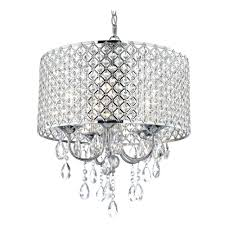 chandeliers crystal chrome chandelier pendant light with crystal beaded drum shade alt2 white beaded empire