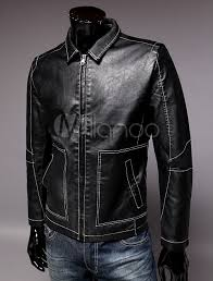 cool retro pu leather men s thin leather jackets