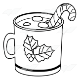 hot chocolate mug clipart. christmas mug hot chocolate clipart