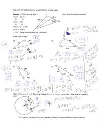 trigonometry the law of sines worksheet answers hw 12914 math with ...
