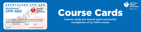 aha course pletion cards american heart ociation