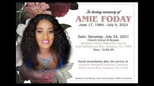 FUNERAL SERVICE FOR AMIE FODAY. - YouTube