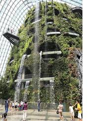 the cloud forest dome in gardens by the bay singapore