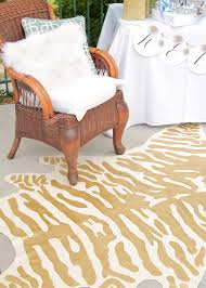 diy faux zebra rug