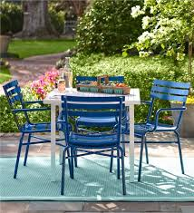 metal patio chairs. Metal Deck Furniture Set Outdoor Plow Hearth Throughout Patio Chairs Ideas 19 H