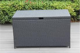 Outdoor patio wicker furniture cushion storage bin deck box large