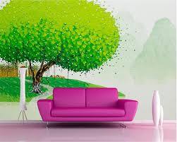 Aangepaste Foto Wallpaper 3d Mooie Bladgoud Indoor Veranda