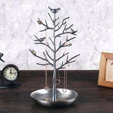 necklace stand tree jewelry rack bird earring organizer display storage gift wooden hanger stands jewelry stands tree
