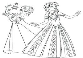 Elsa Anna Coloring Page And Coloring And Model Princess And Queen