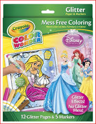 color wonder crayola 10349 crayola color wonder disney princess glitter paper and markers