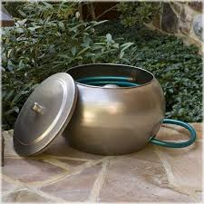 garden hose pot with lid. Garden Hose Pot With Lid Organize Your Moderne Steel Holders A
