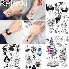 временные татуировки Rejaski наклейки для женщин боди арт дерево