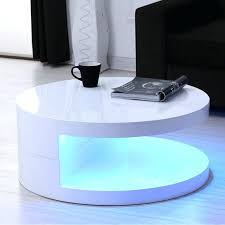 coffee tables white high gloss curve table in led round top curved glass full size