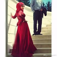 Großhandel Best Selling 2017 Abendkleid Türkisch Islamic Hijab Red ...