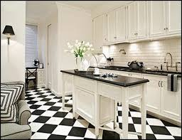 Extraordinary Black And White Tile Floor Kitchen Images - Best .