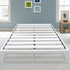 metal platform bed frame. Hulme White Metal Platform Bed Frame T
