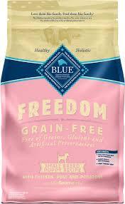 Blue Buffalo Freedom Small Breed Puppy Chicken Recipe Grain Free Dry Dog Food 4 Lb Bag