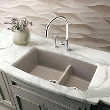 Photo 3 Of 5 1 4 Medium Bowl Granite Composite Sink In Showroom Blanco  Performa Cinder88
