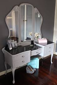 Amazing Queen Anne Dressing Table Painted As Paris Grey Love It Picture For Bedroom  Furniture Inspiration