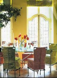 would love a kitchen table with slip covered chairs that look like this light airy elegant beautiful
