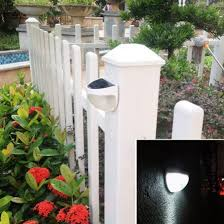 Solar Powered 4 LED Fence Gutter Light Outdoor Yard Wall Pathway Solar Exterior House Lights